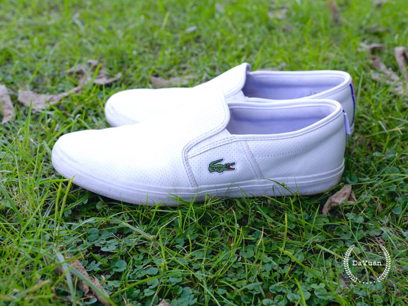 帥鞋|LACOSTE 全白懶人鞋SLIP ON