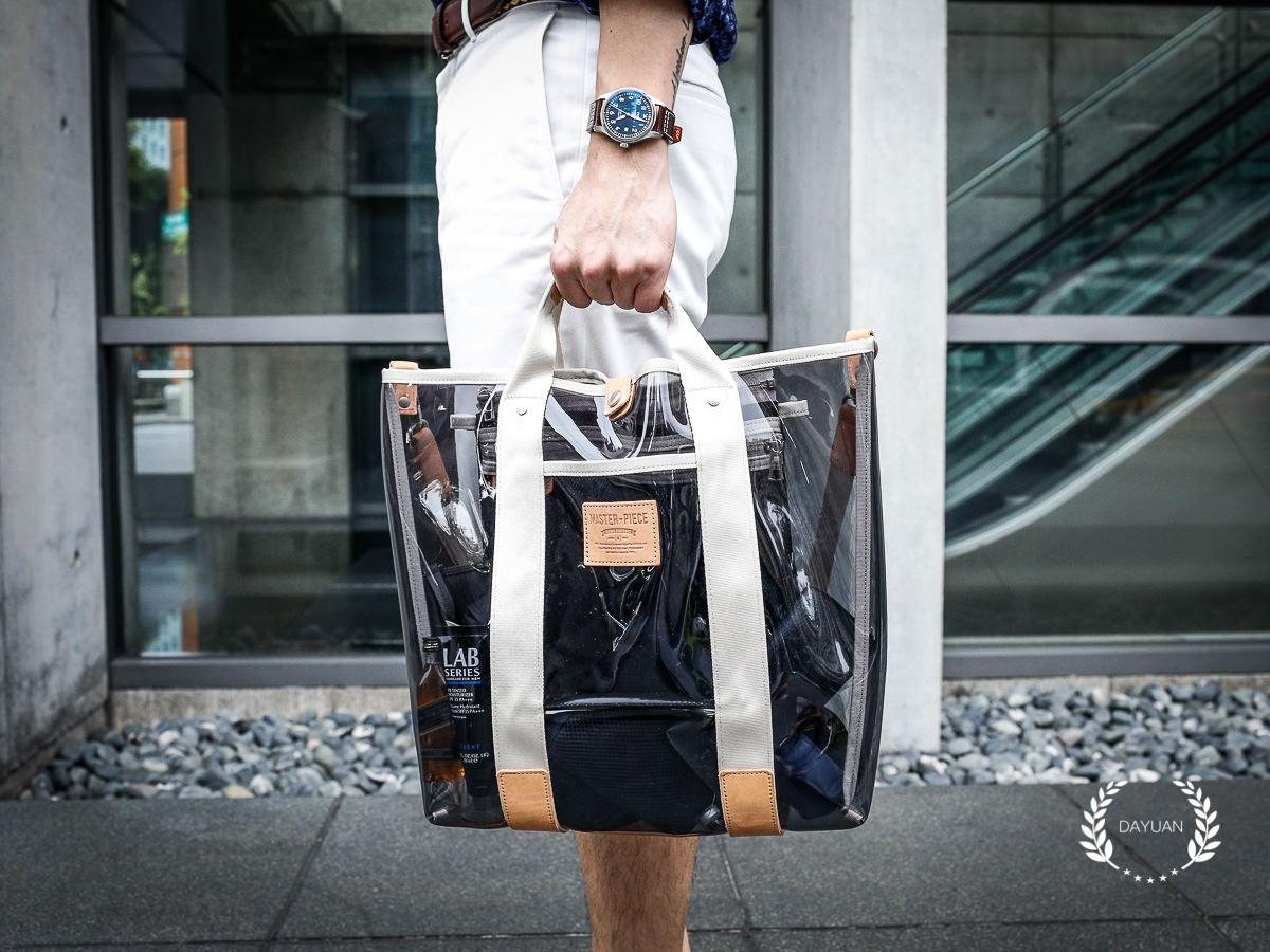 包包|MSPC master-piece 透明托特包 夏季男生必備基本包款