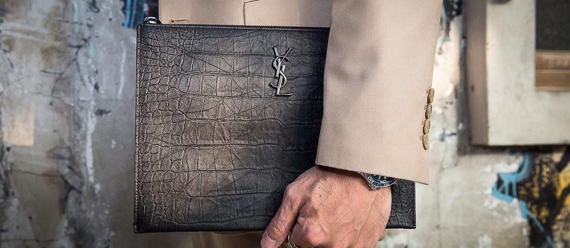 男包|YSL手拿包 羊皮手感無可挑剔的神配件