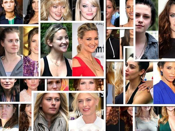 33位好萊塢女星 化妝前vs化妝後