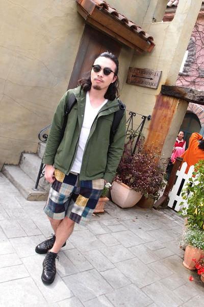穿搭|男生格子拼接短褲