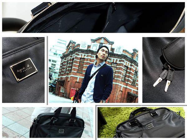 包包|agnes b. VOYAGE男用牛皮斜背包