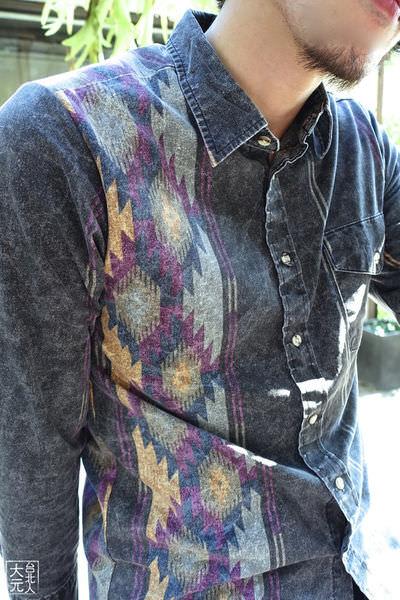 民族風男生襯衫穿搭示範
