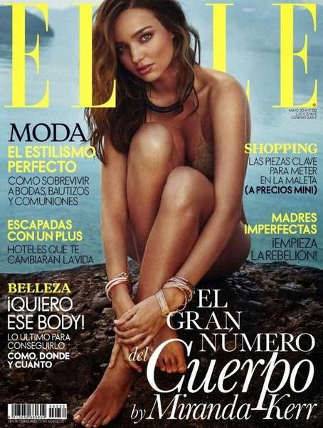 米蘭達柯爾拍2014年5月西班牙《ELLE》封面露點