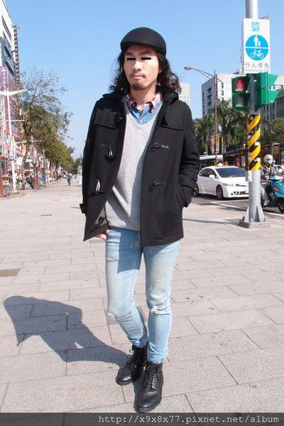男生穿搭之遊樂園篇(羊毛外套+skinny褲)